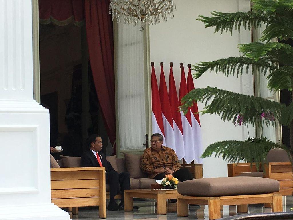 Foto: Pertemuan Mendadak SBY-Jokowi di Istana