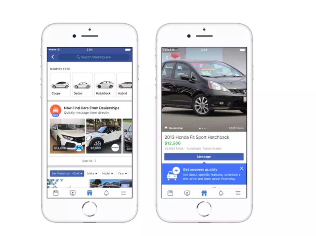 Beli Mobil Bisa Lewat Facebook