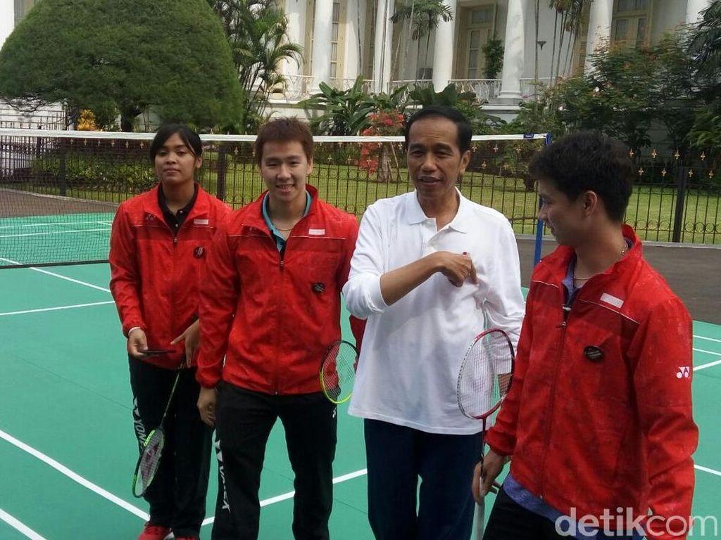 Presiden Jokowi/Kevin Vs Marcus/Gregoria di Hari Sumpah Pemuda