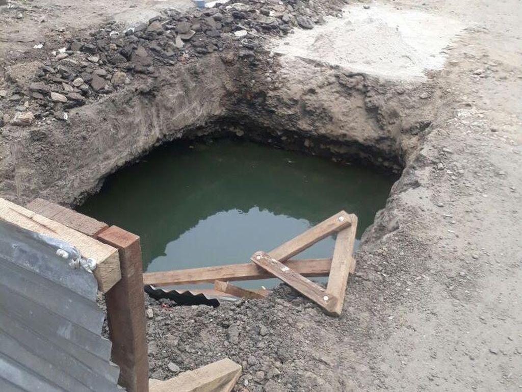 Staf Bina Marga: Penutup Galian di Lodan Hilang karena Ulah Warga