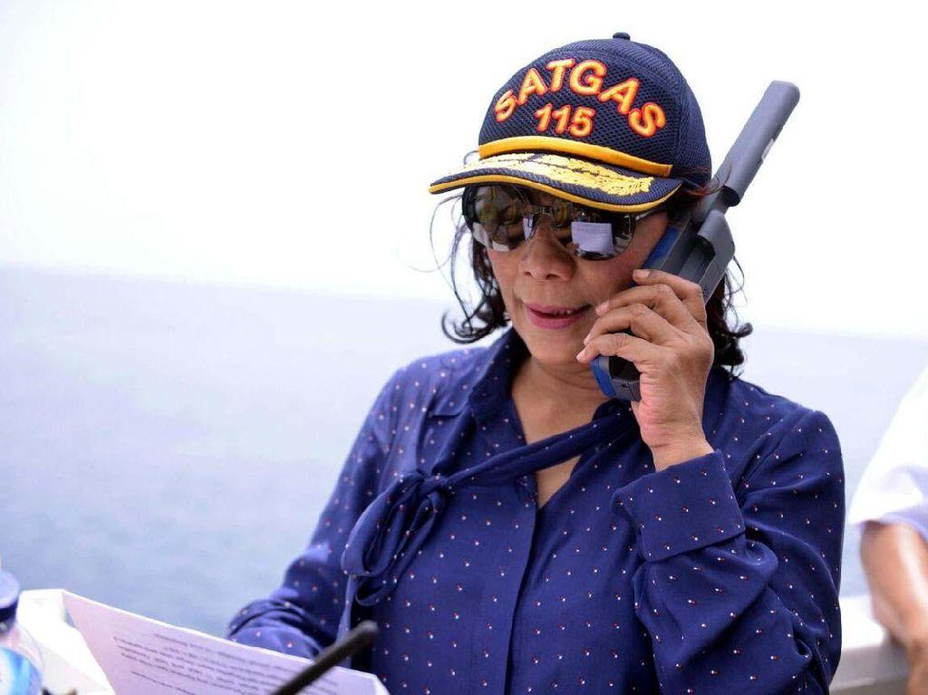 Susi: Kita Ledakkan Kapal Maling Ikan Biar Tak Balik Lagi ke RI
