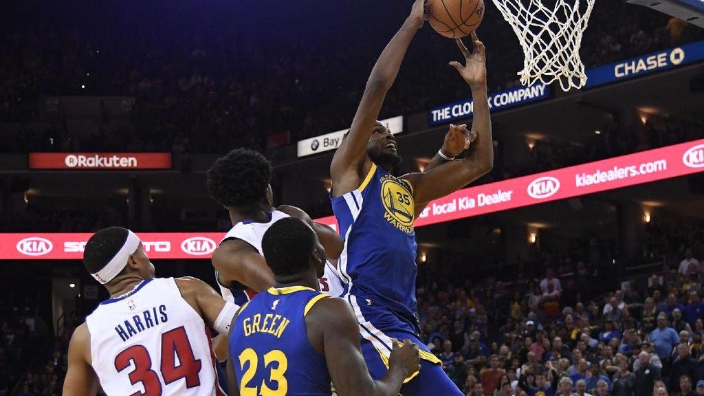 Warriors Dipermalukan Pistons