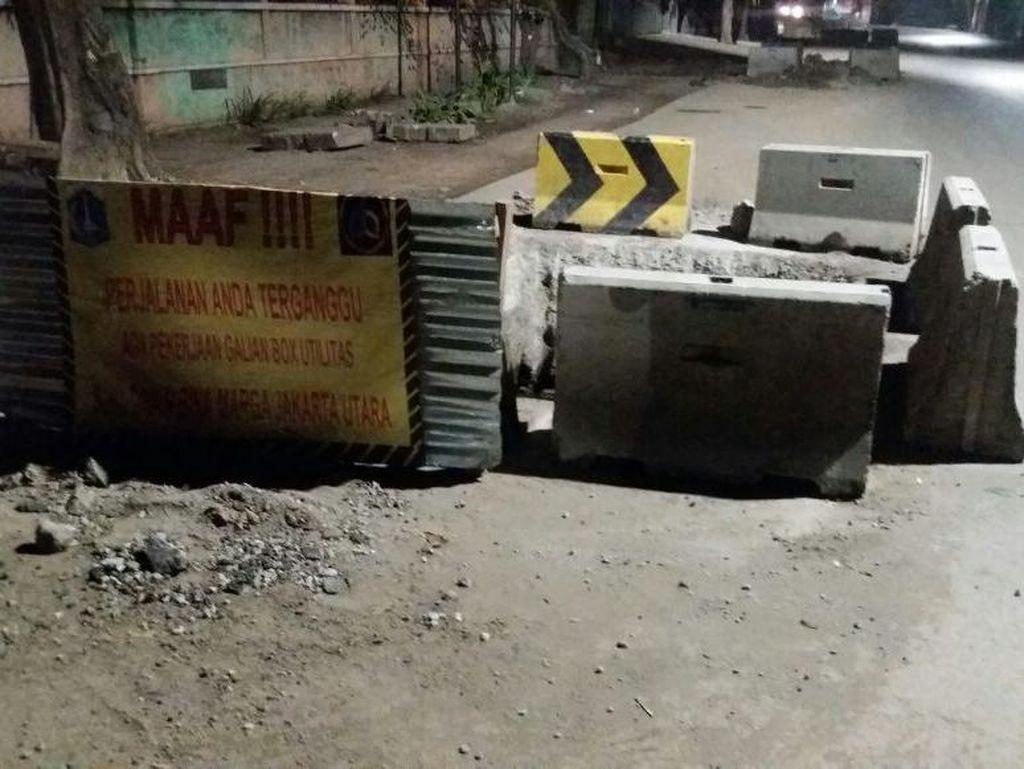 Galian di Jl Lodan Bahayakan Pengguna Jalan, Bina Marga Minta Maaf