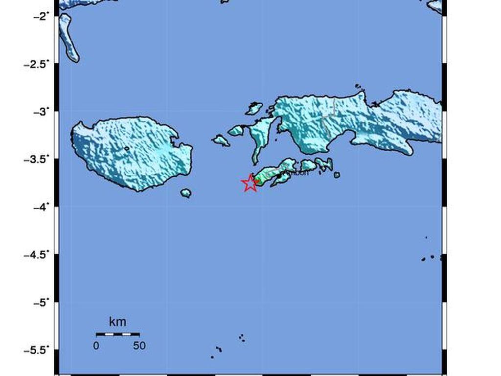 Rentetan Gempa Guncang Ambon