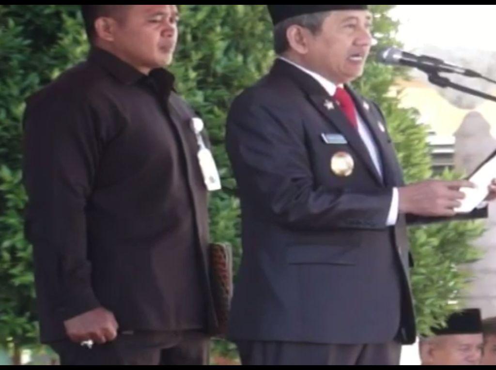Viral, Video Gubernur Sulbar Salah Baca Teks Pancasila