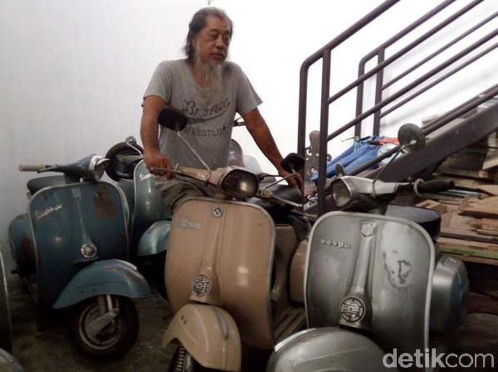 Keren! Warga Semarang Koleksi 65 Vespa Jadul