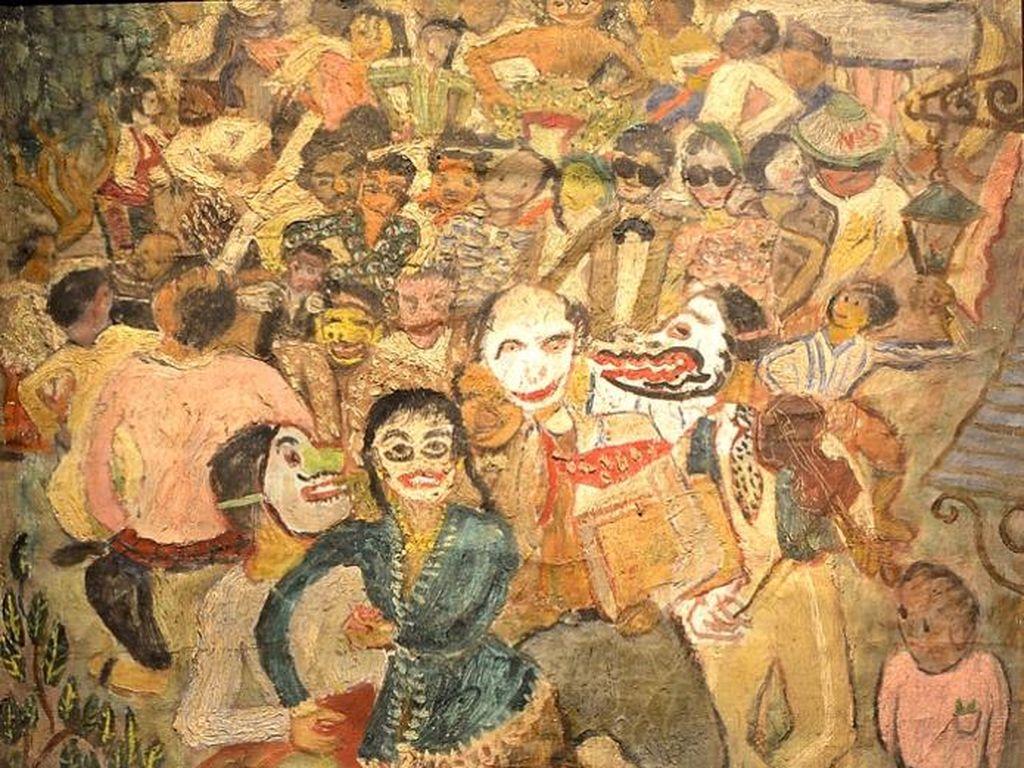 Lukisan S.Sudjojono Tjap Go Meh Dipamerkan di Belgia