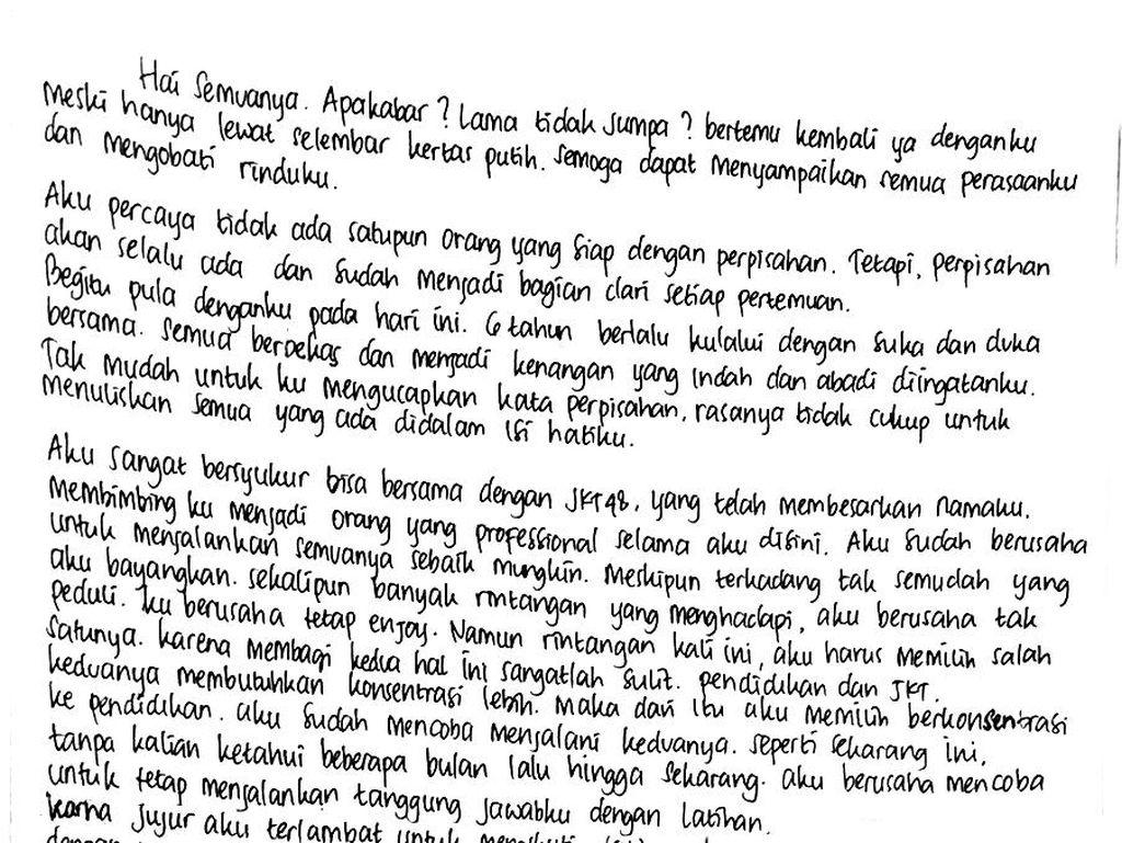 Melody Lulus, Nabilah Putuskan Keluar dari JKT48