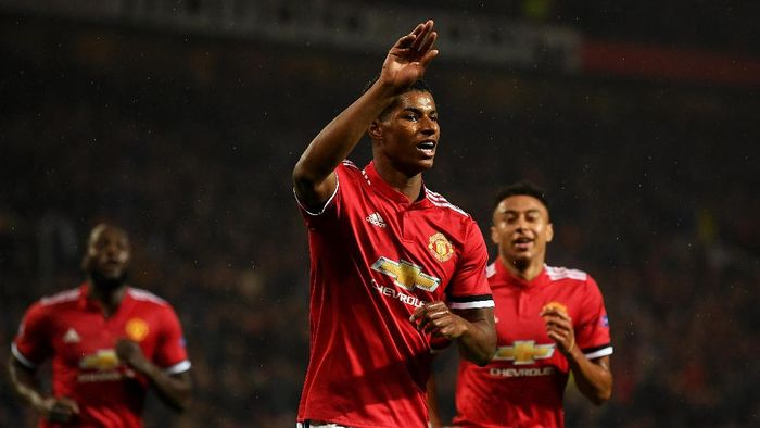 Pemain Manchester United, Marcus Rashford. (Foto: Laurence Griffiths/Getty Images)