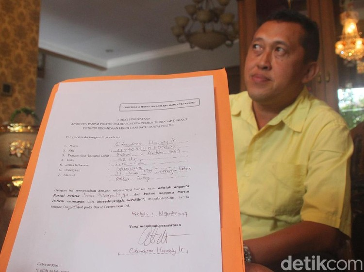 Wakil Ketua DPD Golkar Brebes juga Tercatat Sebagai Anggota Nasdem