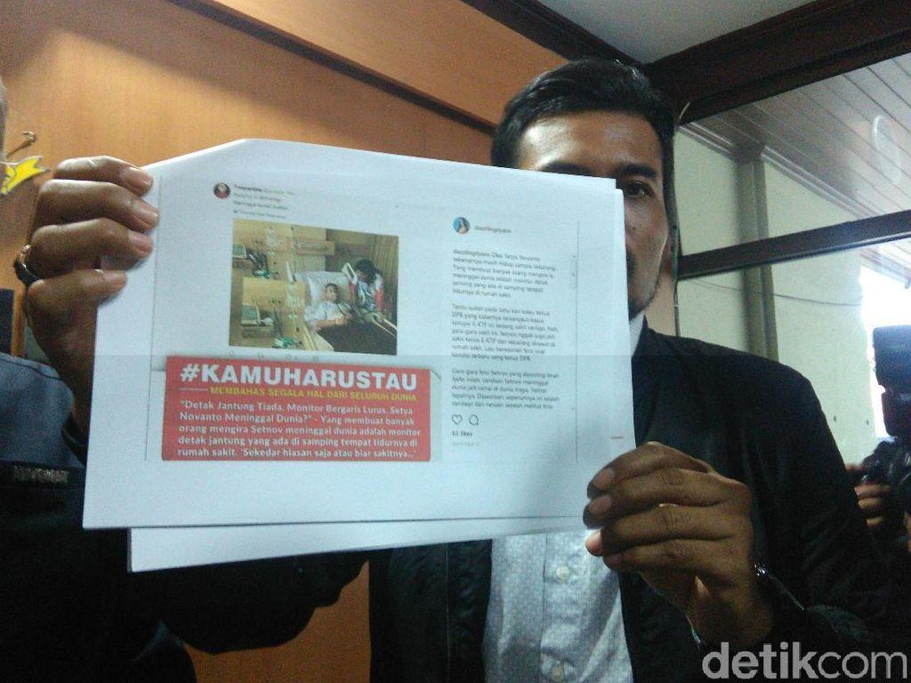 Polisi Tetapkan Seorang Tersangka Penyebar Meme Novanto