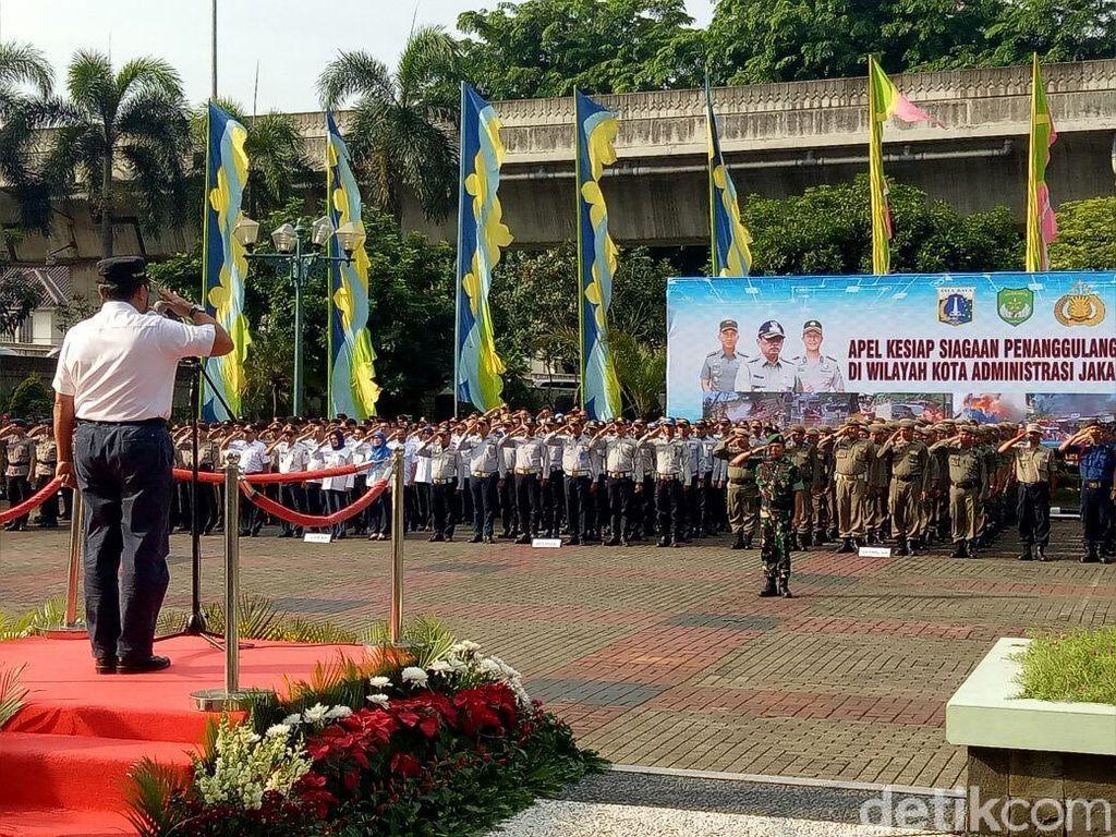 Wali Kota Jaksel, Polisi dan TNI Gelar Apel Siaga Bencana