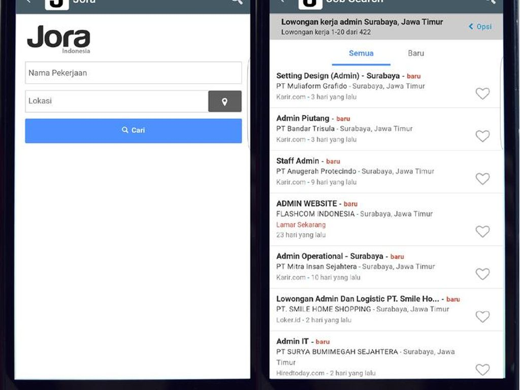 Lowongan Kerja dari Berbagai Situs Bisa Ditemukan di Aplikasi Jora