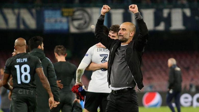 Gembiranya Guardiola Usai City Lolos dari Pembantaian Napoli
