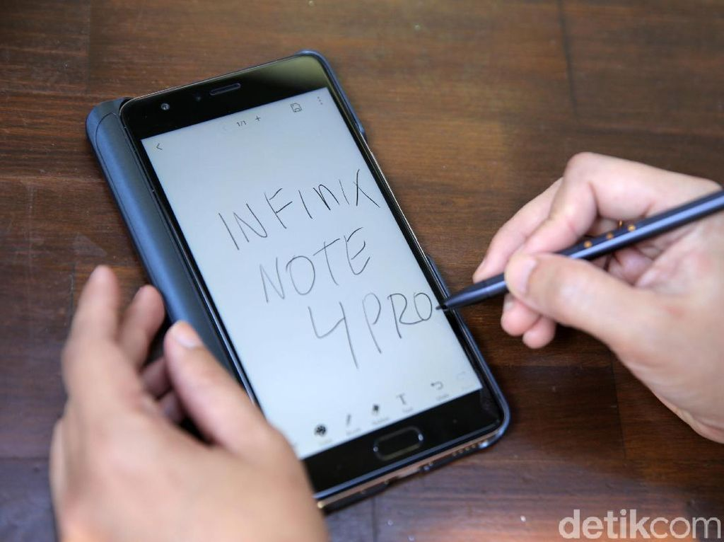 Stylus di Infinix Note 4 Pro Bukti Masukan Pengguna