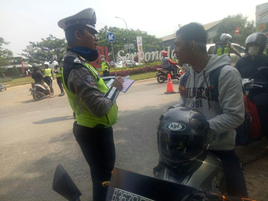 2 Hari Operasi Zebra di Tangsel, Polisi Tilang 316 Kendaraan