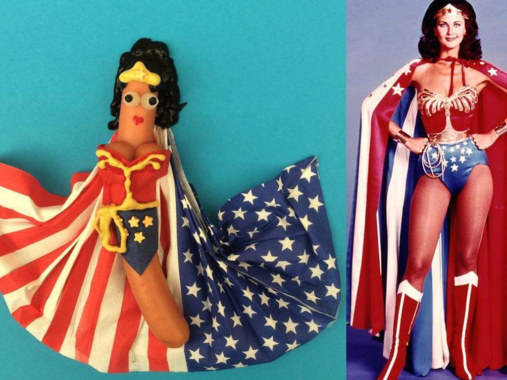 Lihat Uniknya Hot Dog Disulap Jadi Wonder Woman hingga Daft Punk