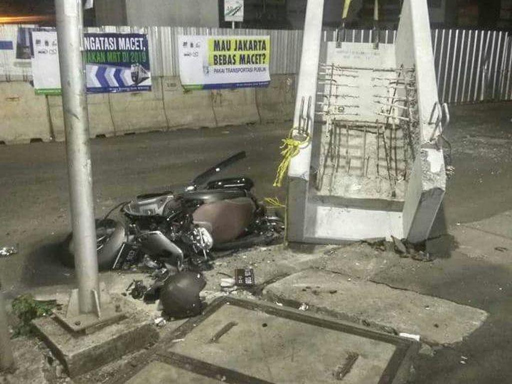 Beton Jatuh Timpa Motor, Ini Penjelasan Lengkap PT MRT Jakarta
