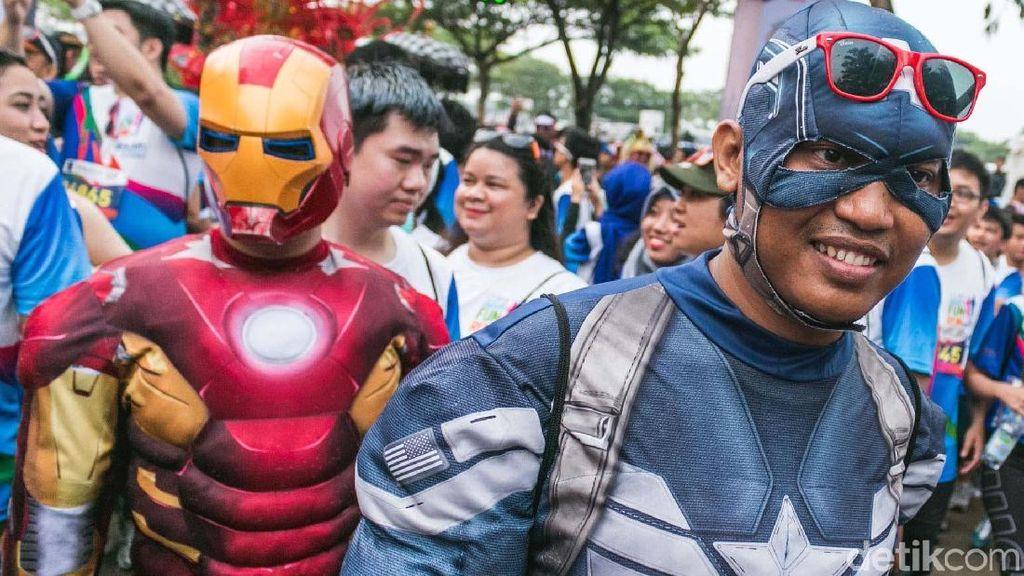 Pahlawan Super Ramaikan CT Arsa Fun Run