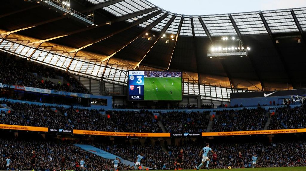 Manchester City Libas Arsenal di Etihad
