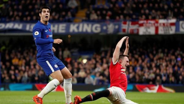 Chelsea vs MU Tanpa Gol di Paruh Babak