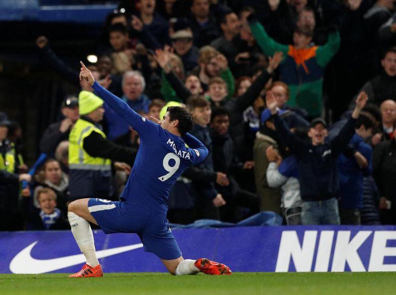 Chelsea Tundukkan MU Berkat Gol Tunggal Morata