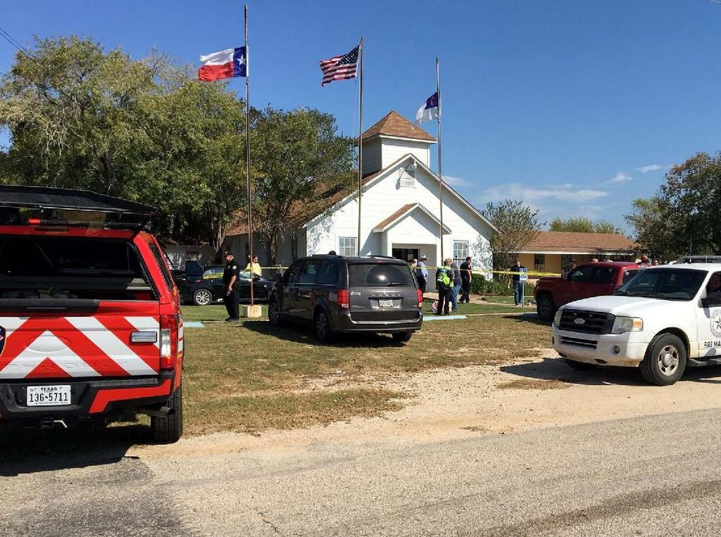 Suasana Gereja di Texas Pasca Penembakan Massal