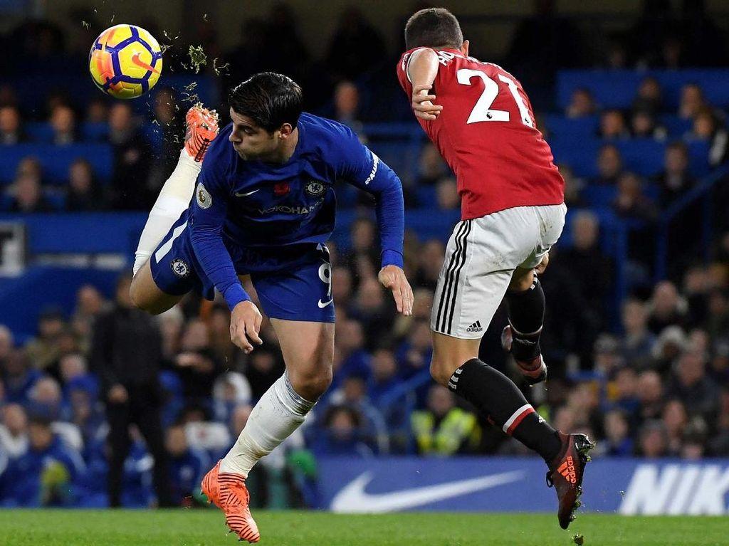 Foto: Morata Menangkan Chelsea atas MU