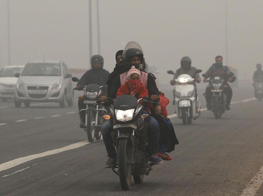 New Delhi Darurat Polusi Udara, Begini Penampakannya