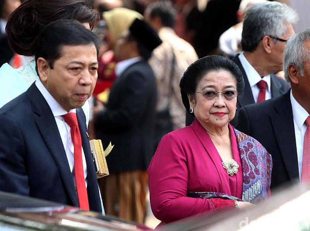 Foto: Interaksi Novanto dan Megawati di Pernikahan Kahiyang-Bobby