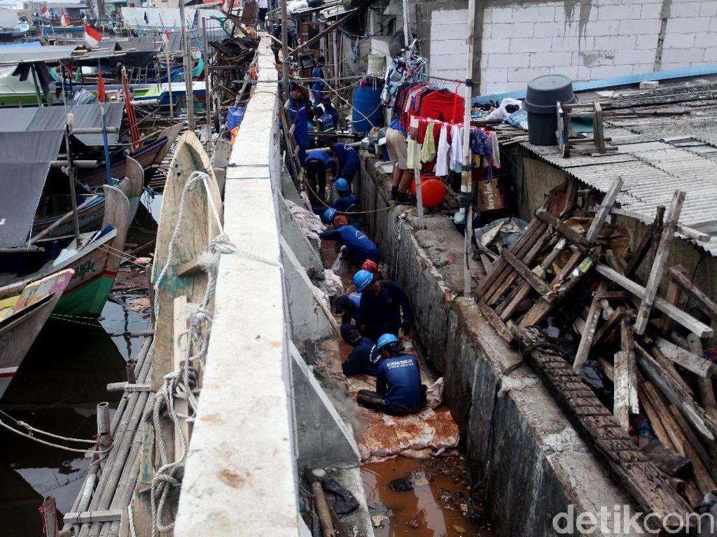 Cegah Banjir di Luar Batang, DKI Lakukan Betonisasi Tanggul