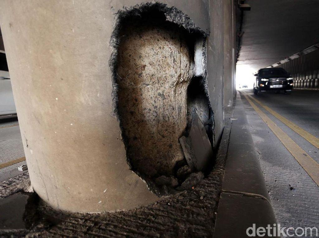 Tiang Underpass Pondok Indah Bolong, Bina Marga: Segera Dibenahi