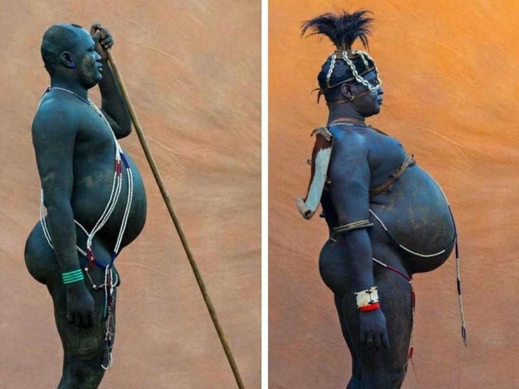 Potret Pria Gemuk Suku Bodi yang Dipandang Seksi