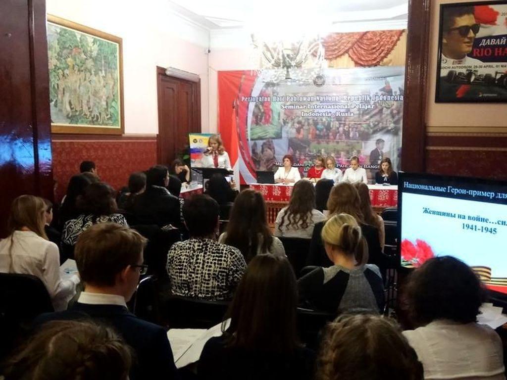 Peringati Hari Pahlawan, Pelajar RI-Rusia Gelar Seminar Kepahlawanan