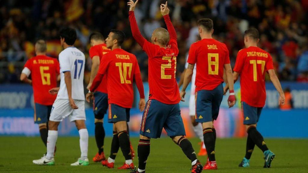 Pesta Gol Spanyol ke Gawang Kosta Rika