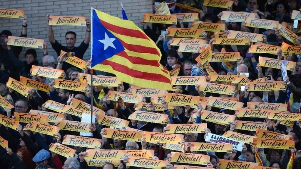 Massa Pro-Catalonia Kembali Gelar Aksi di Barcelona