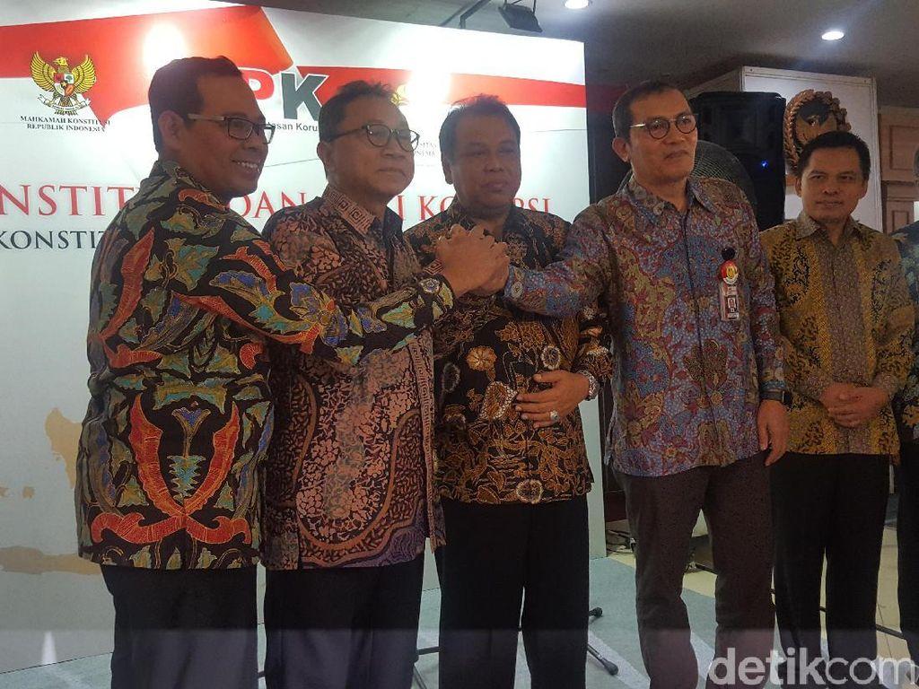 Ketua MK, Ketua MPR dan Pimpinan KPK Hadiri Festival Antikorupsi