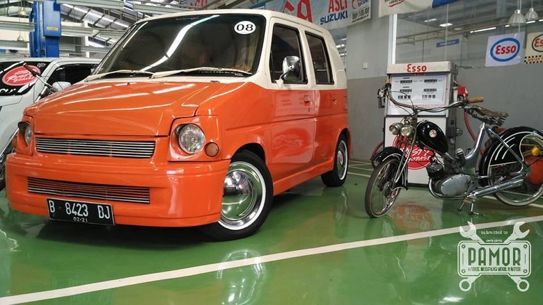 Cantiknya Suzuki Karimun Bergaya Retro Klasik