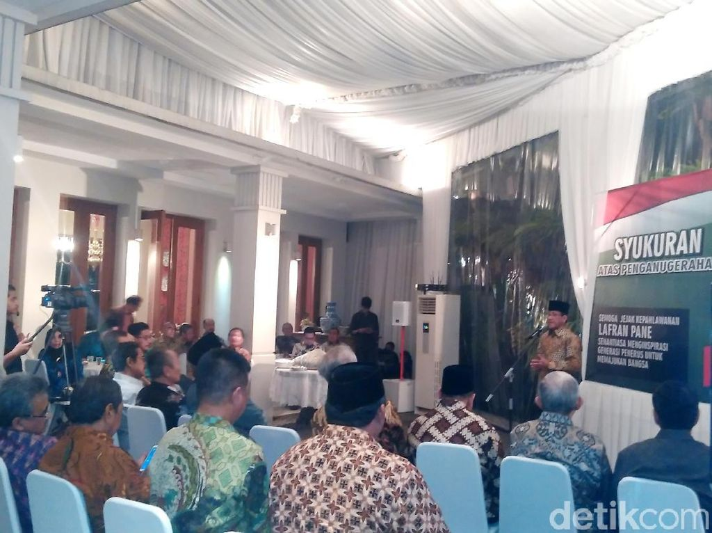 Prof Lafran Pane Jadi Pahlawan Nasional, HMI Gelar Syukuran