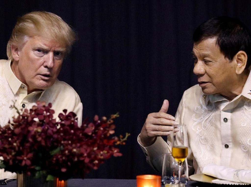 Puji Pertemuan Hangatnya dengan Duterte, Ini Kata Trump