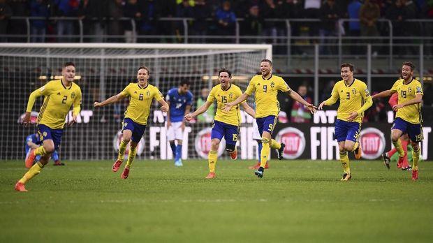 Timnas Swedia mengalahkan Italia dalam fase play-off kualifikasi Piala Dunia zona Eropa