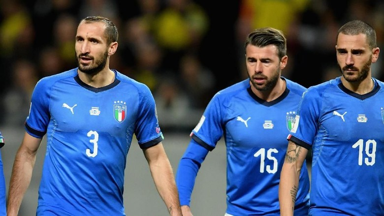 Barzagli, De Rossi, dan Chiellini Pensiun dari Timnas Italia