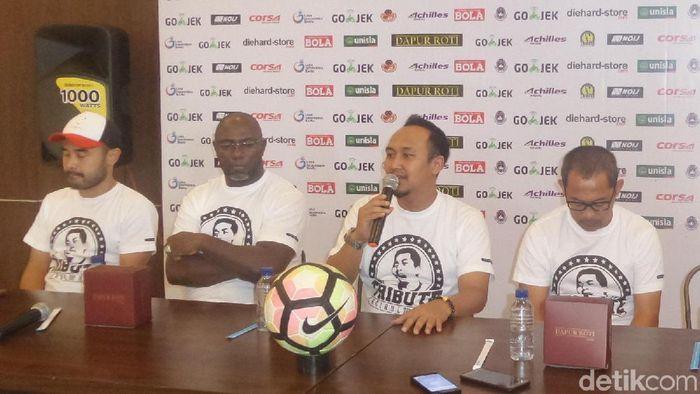 Konfensi pers menjelang Tribute Match Choirul Huda (Foto: Eko Sujarwo/detikcom)