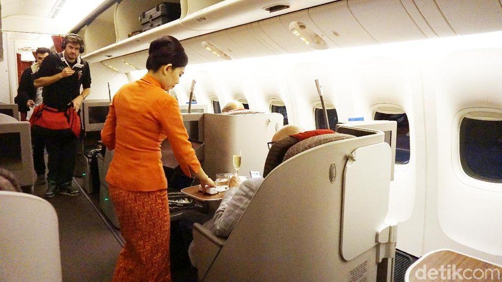 Foto: Nyamannya Kelas Bisnis Garuda Rute Jakarta-London