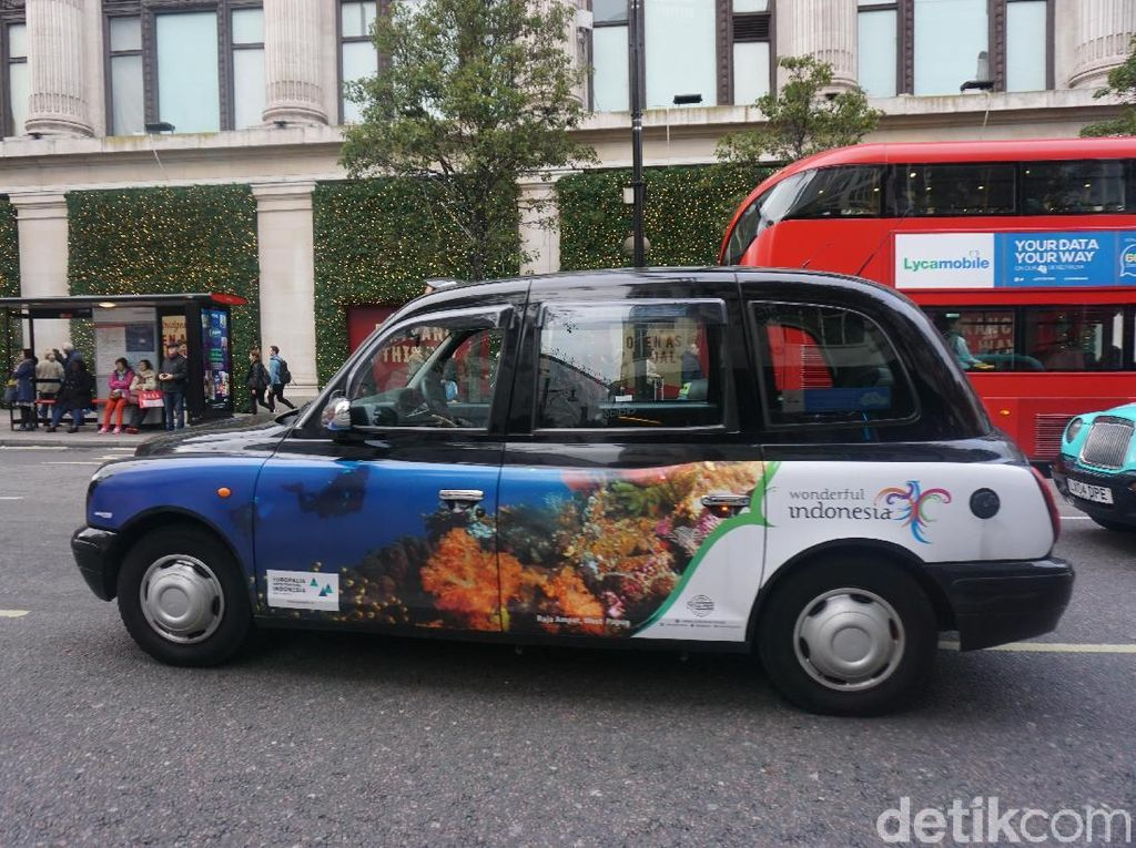 Bangga Deh! Saat Taksi di London Berhias Keindahan Indonesia
