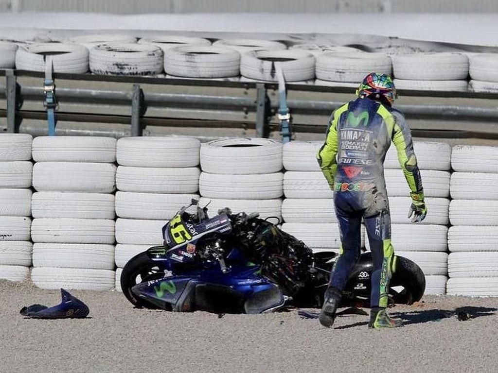 Kata Rossi Soal Kecelakaannya di Valencia