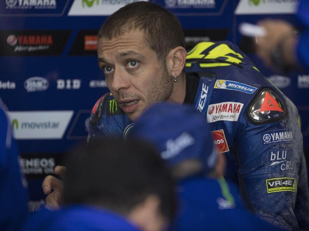 Meski Alami Crash Hebat, Tes Hari Pertama Cukup Positif untuk Rossi