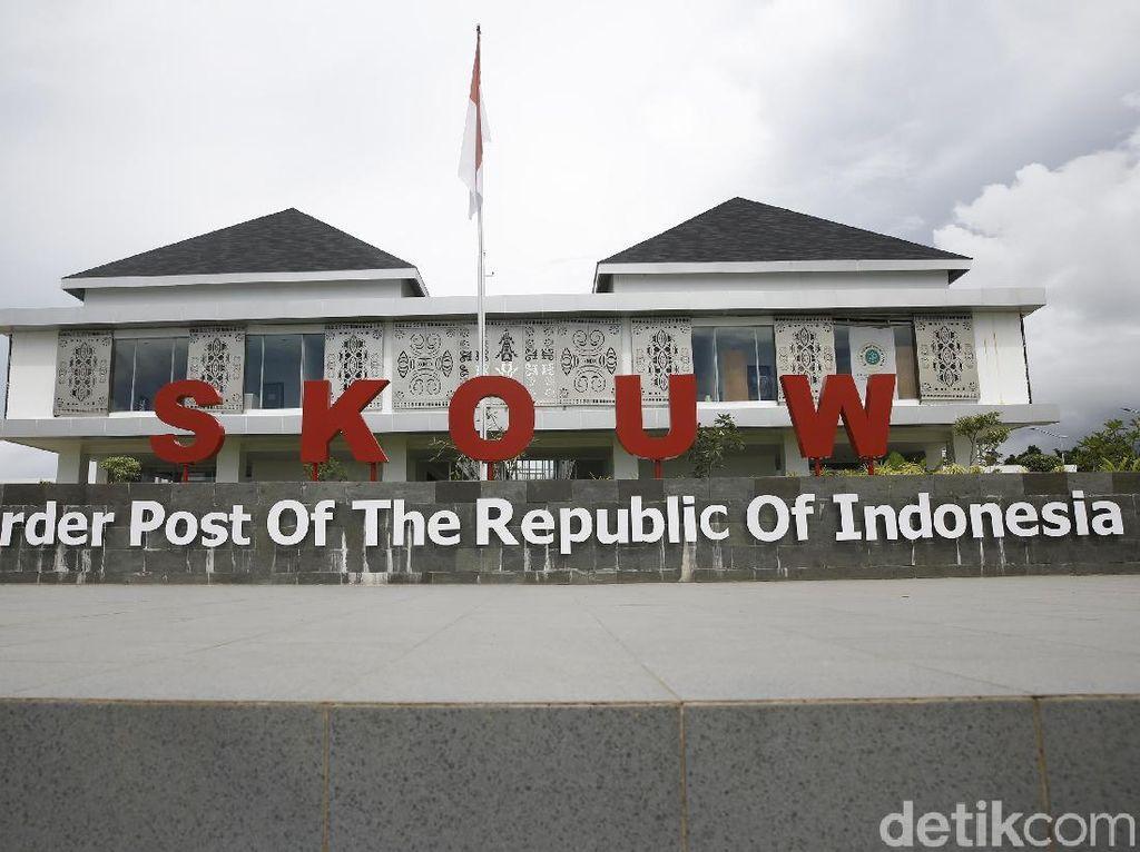 Before-After Pos Perbatasan RI-PNG yang Dipercantik Jokowi