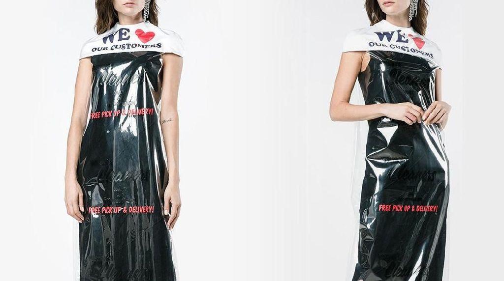 Moschino Jual Gaun Plastik Bungkusan Laundry Rp 12 Juta, Berminat?