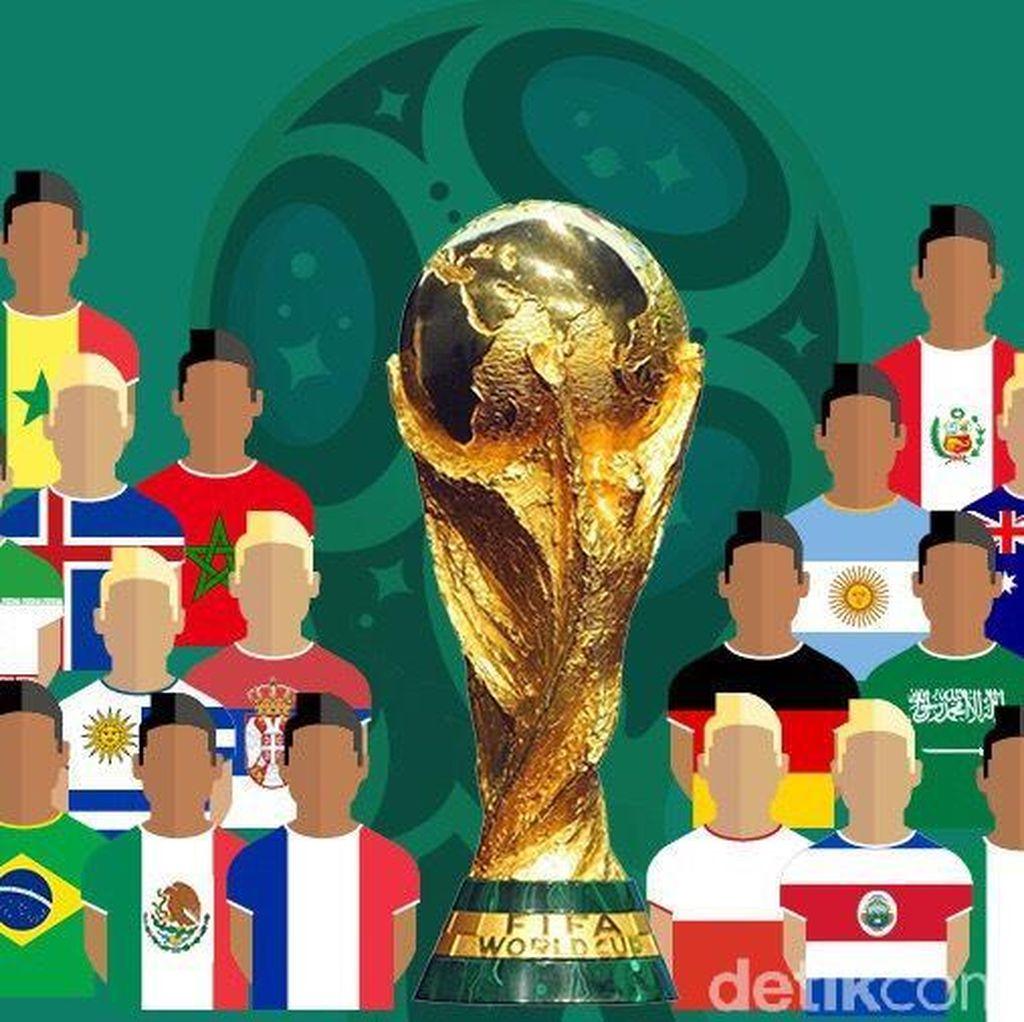 Lengkap Sudah, Ini 32 Kontestan Piala Dunia 2018